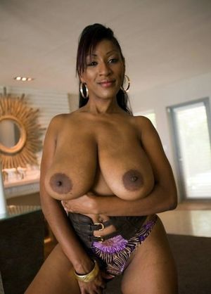 Retro black women with huge fake tits,..