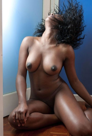 Big breasted ebony housewife show her..