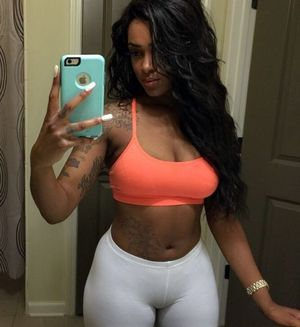 Awesome black gals cameltoe, big hips,..