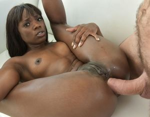Charming black pornstar Ana Foxxx gets..