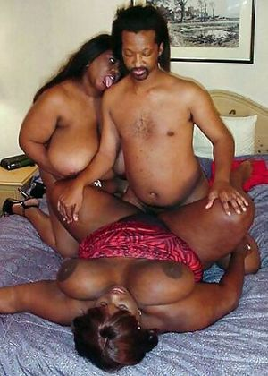 Two black BBW girlfriends dragged a..